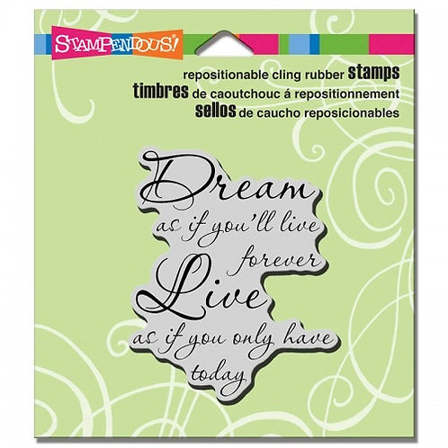 """Dreams""  Stampendous Cling Mount Rubber Stamps"