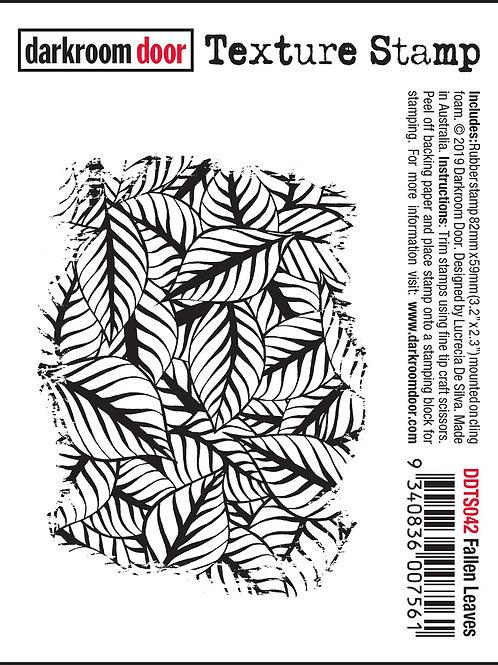 """Darkroom Door - """"Leaves"""" Texture Rubber Stamp"""
