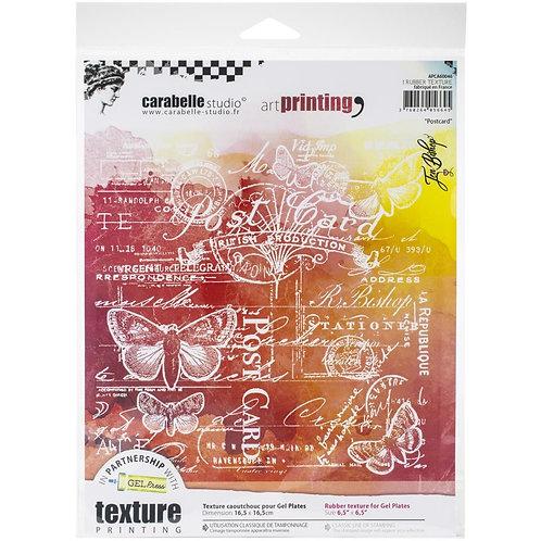 "Carabelle Studio Art Printing Rubber Texture Plate ""Postcard"""
