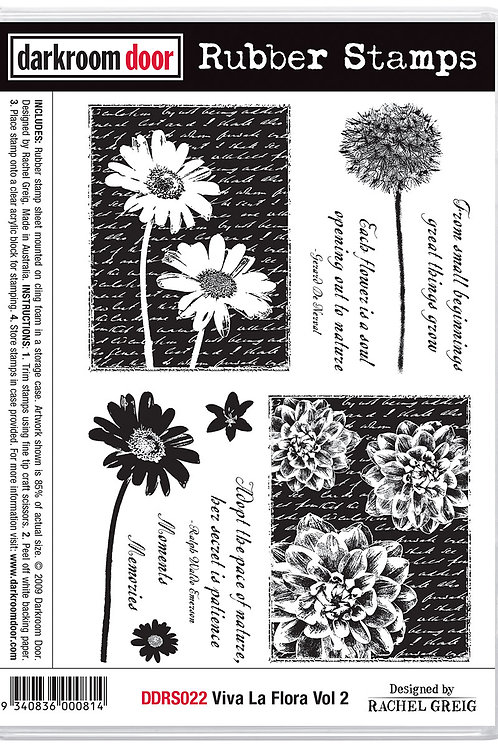 "Darkroom Door - ""Viva La Flora Vol 2""  Cling Rubber Stamp"
