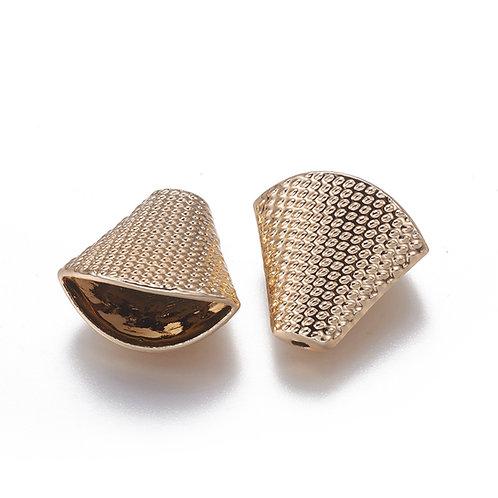 Alloy Tassel Bead Caps, Cones Gold Plated 5pcs