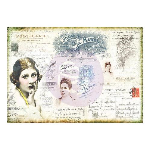 "Carte Postale Finnabair Mixed Media Tissue Paper 27.5""X19.7"" 6/Pkg"