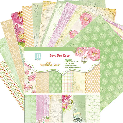 "6x6 inch ""Early Summer"" Design Paper Pack"