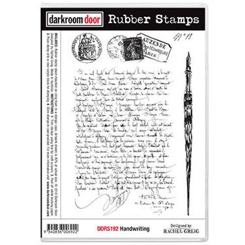 """Darkroom Door - """"Handwriting""""  Rubber Stamp"""