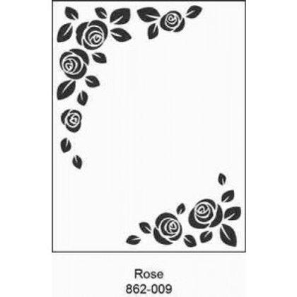 Rose Embossing Folder 4.25 x 5.75