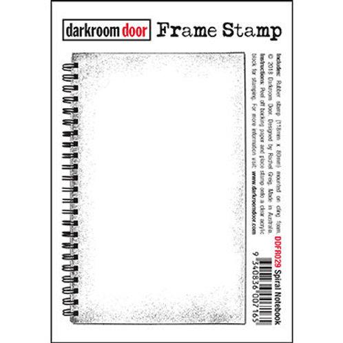 "Darkroom Door Frame Stamp - ""Spiral Notebook"""