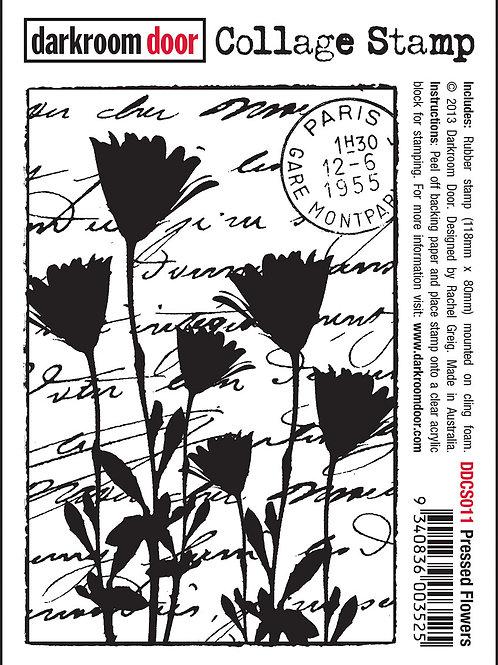 """Darkroom Door Collage Stamp - """"Pressed Flowers"""""""