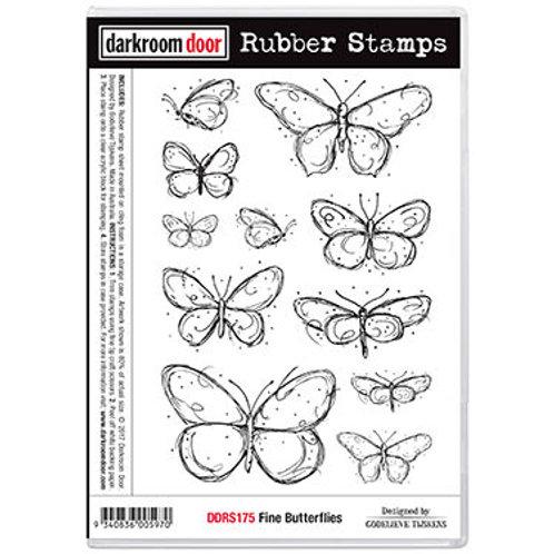 """Darkroom Door - """"Fine Butterflies""""  Rubber Stamp"""