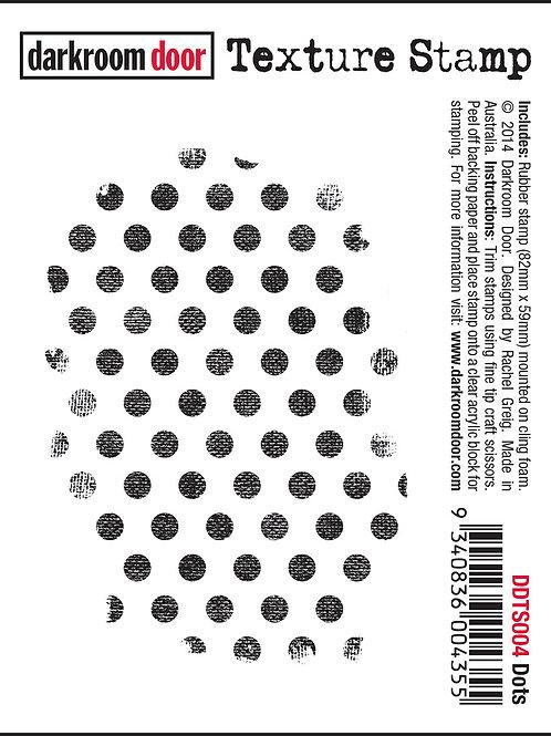 """Darkroom Door - """"Dots"""" Texture Rubber Stamp"""