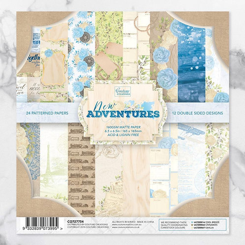 Coouture Creations Paper Pad 6.5 x 6.5in -24 sheets - New Adventures