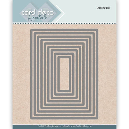 Card Deco Rectangle Cutting Dies 9pcs