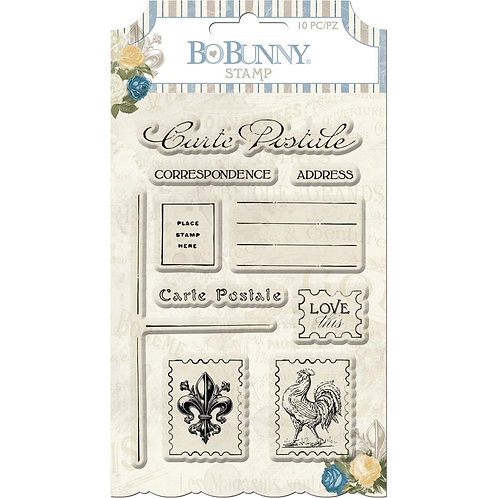 "BoBunny Clear Stamps 4""X6"" Carte Postale"