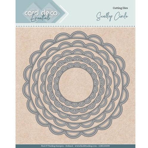 Card Deco Scallop Circle Cutting Dies 5pcs