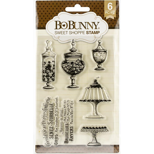 """BoBunny Clear Stamps 4""""X6"""" """"Sweet Shoppe"""""""