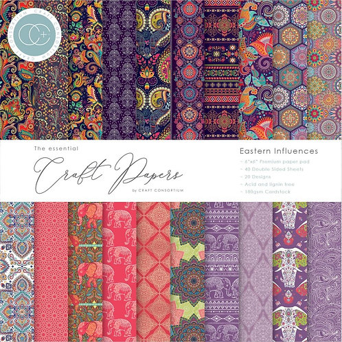 """Craft Consortium Double-Sided Paper Pad 6""""X6"""" 40/Pkg"""