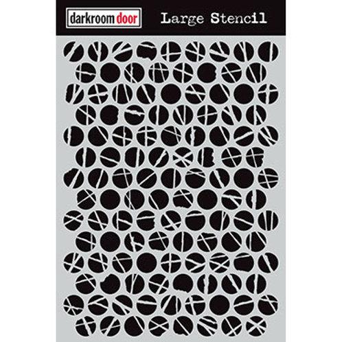 "Darkroom Door Large Stencil - 9x12 ""Polka Dots"""