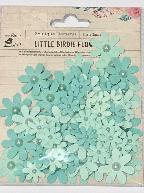 Little Birdie Pearl Florettes Celeste 80pk