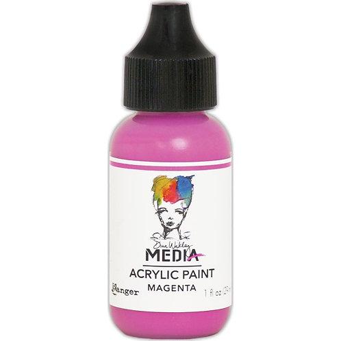 """Dina Wakley Media Acrylic Paint 1oz """"Magenta"""""""