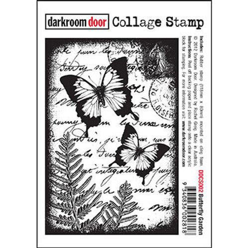 """Darkroom Door Collage Stamp - """"Butterfly Garden"""""""