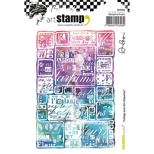 """Carabelle Studio Cling Stamp A6  Poissons """"Collage"""""""