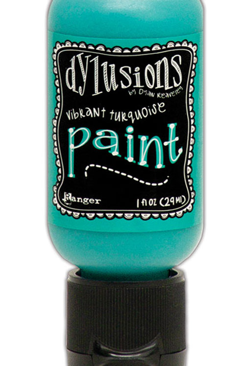 """Dylusions Paint Flip Cap """"Vibrant Turquoise"""""""