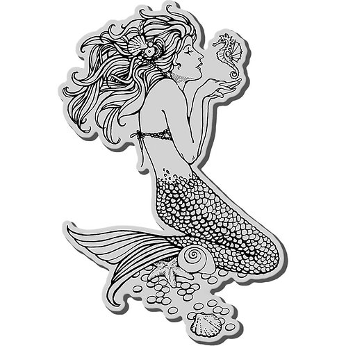 """""""Mermaid""""  Stampendous Cling Mount Rubber Stamps"""