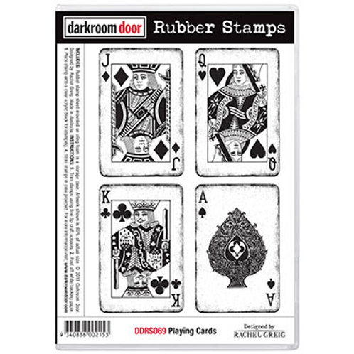 "Darkroom Door - ""Playing Cards""  Rubber Stamp"