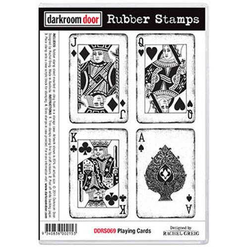 """Darkroom Door - """"Playing Cards""""  Rubber Stamp"""