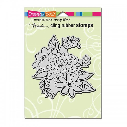 Mum Blossoms Stampendous Cling Mount Rubber Stamps