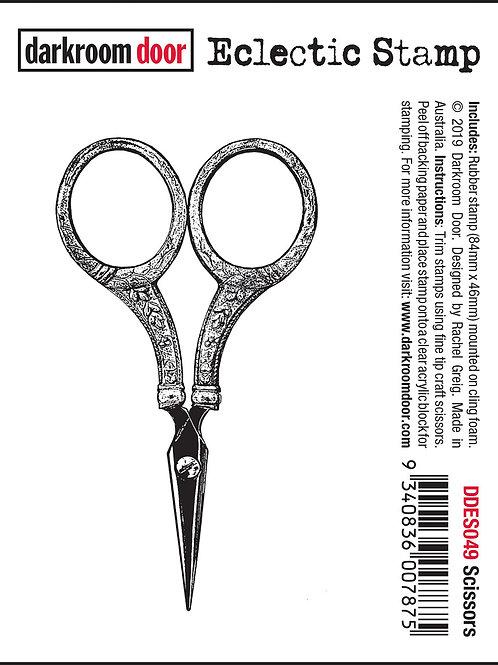 """Darkroom Door - """"Scissors"""" Eclectic Rubber Stamp"""