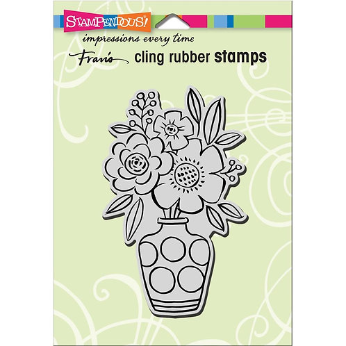 """Blossom Vase""  Stampendous Cling Mount Rubber Stamps"