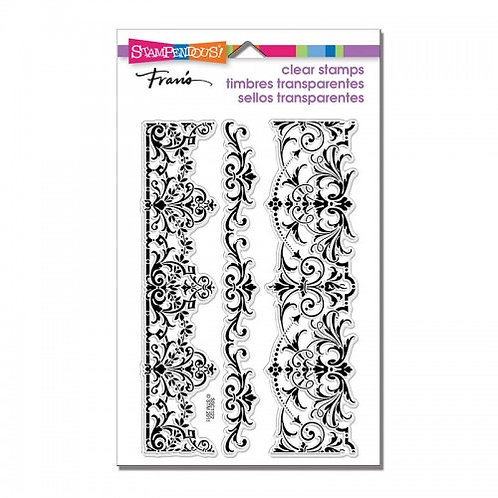 """""""Elegant Borders"""" Stampendous Clear Stamps by Laurel Birch 4""""x6"""""""