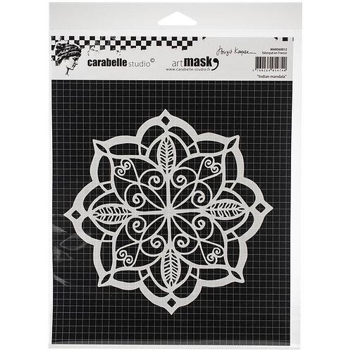 "Carabelle Studio Mask 6""x 6"" ""Indian Mandala"""