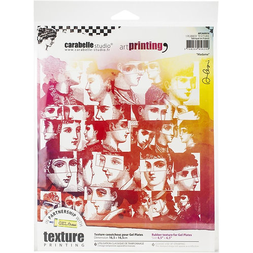 """Carabelle Studio Art Printing Rubber Texture Plate """"Madame"""""""