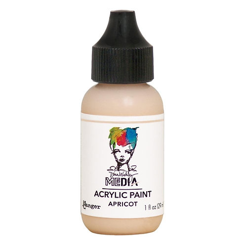 "Wakley Media Acrylic Paint 1oz ""Apricot"""