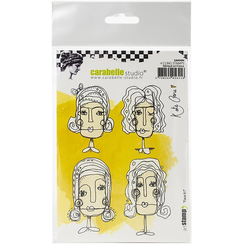 """Carabelle Studio Cling Stamp A6  """"Face it"""""""