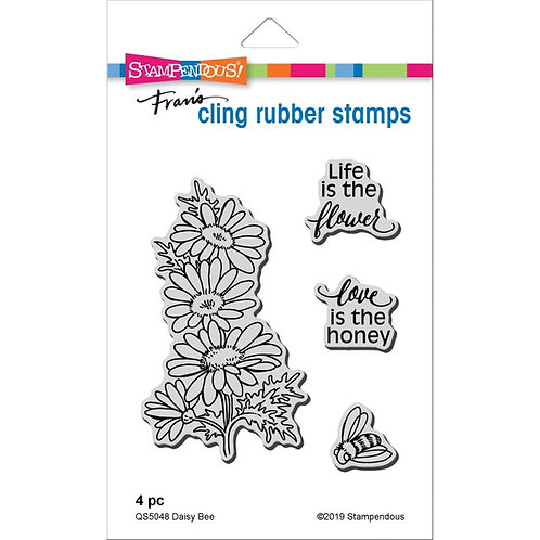 """""""Daisy Bee""""  Stampendous Cling Mount Rubber Stamps"""