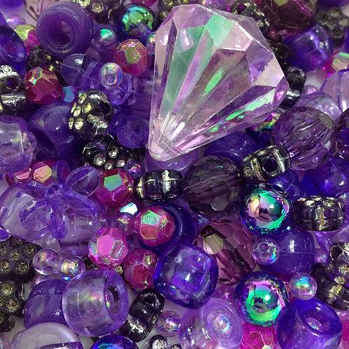 Purple Bead Mix - 30grams