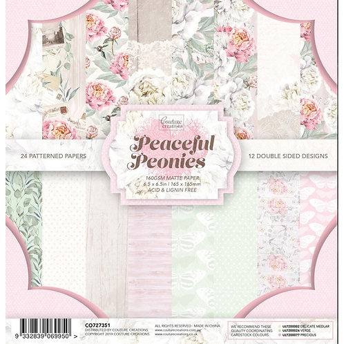 """Couture Creations Double-Sided Paper Pad 6.5""""X6.5"""" 24/Pkg"""
