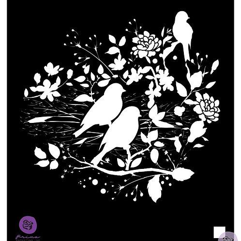 """Prima Stencils 6x6 """"Birdy Nest"""""""