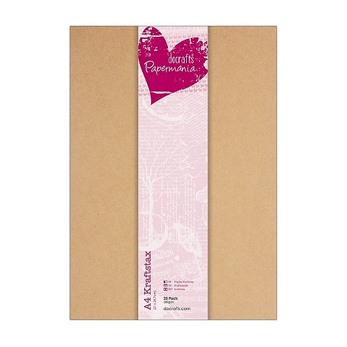 A4 Docraft Kraft Card A4 Card 280gsm 25 pack​​​​​​​