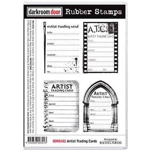 """Darkroom Door - """"Artist Trading Cards""""  Rubber Stamp"""