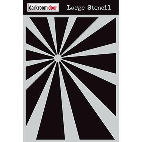 """Darkroom Door Large Stencil - 9x12 """"Sunshine"""""""