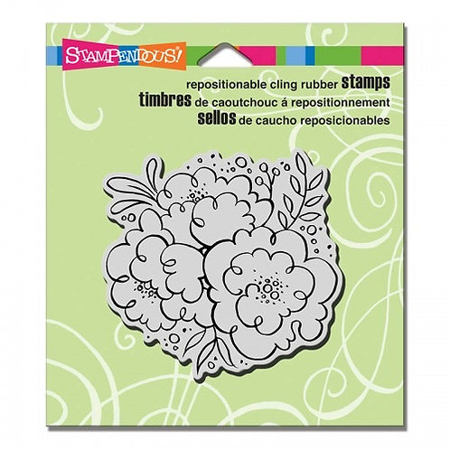 Blossom Trio Stampendous Cling Mount Rubber Stamps