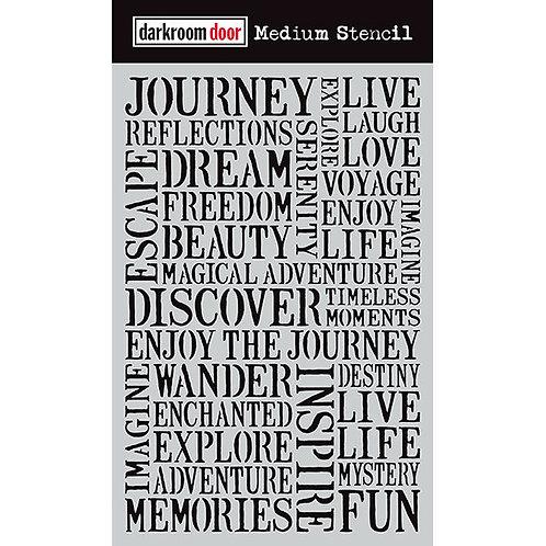 """Darkroom Door Large Stencil - 9x6 """"Journey"""""""