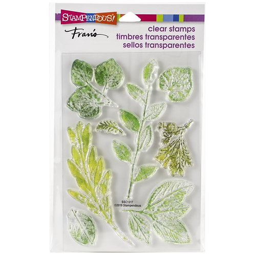 """""""Leafy Imprint"""" Stampendous Clear Stamps by Laurel Birch 4""""x6"""""""