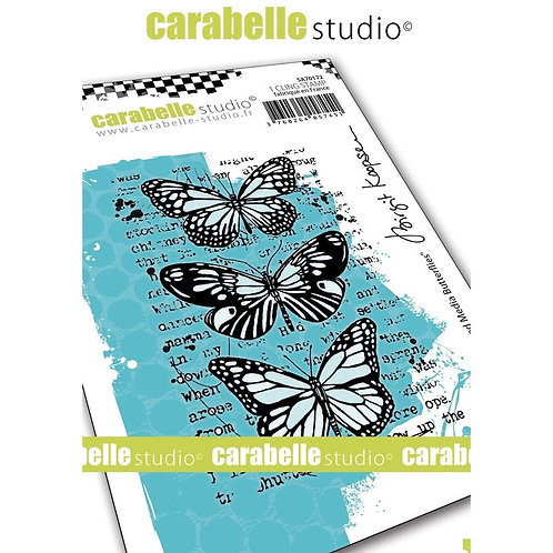 """Carabelle Studio Cling Stamp  """"Mixed Media Butterflies """""""