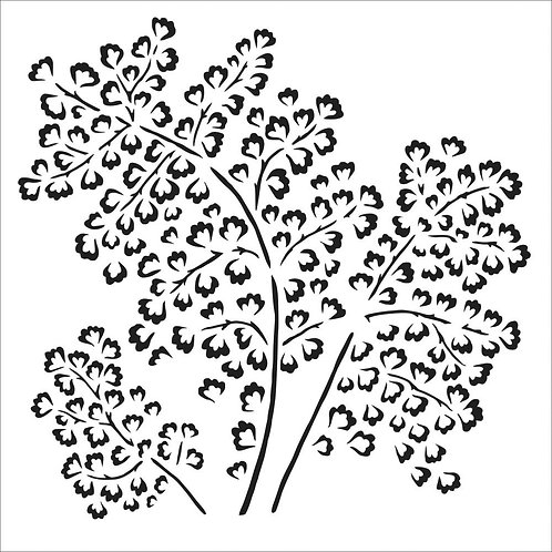 "TCW - 6x6 Stencil -  ""Maidenhair Fern"""