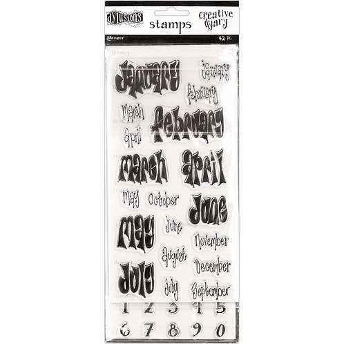 Dyan Reaveley's Dylusions Creative Dyary Stamp Set 45PC