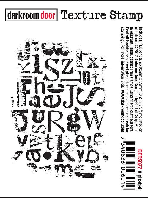 """Darkroom Door - """"Alphabet"""" Texture Rubber Stamp"""